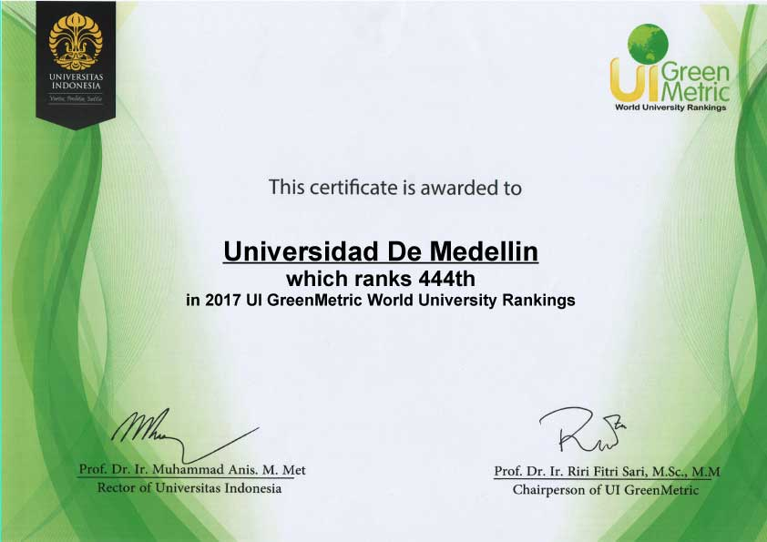 GREENMETRIC factfile udem edu co 2017 full 1